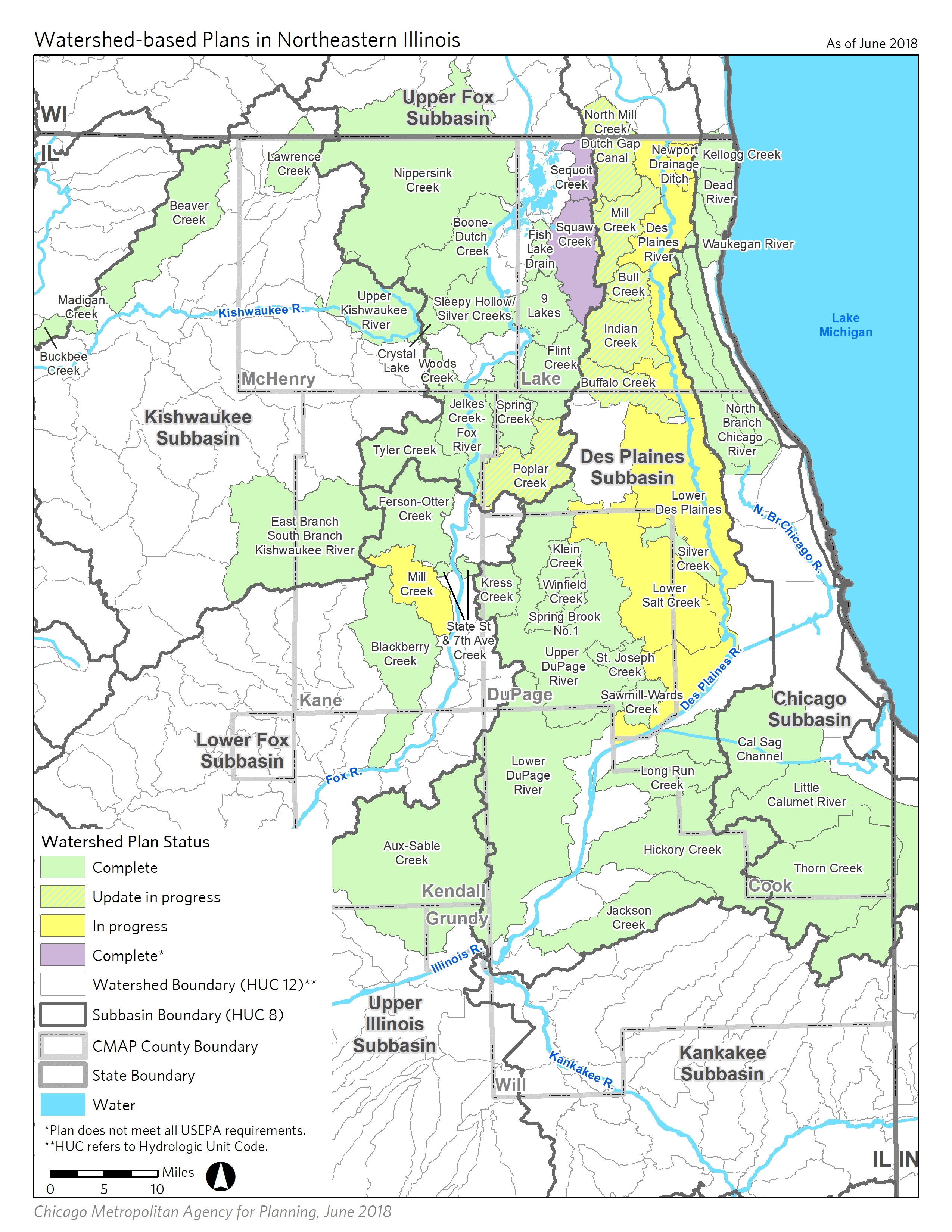 Watershed-based Plans in Northeastern Illinois