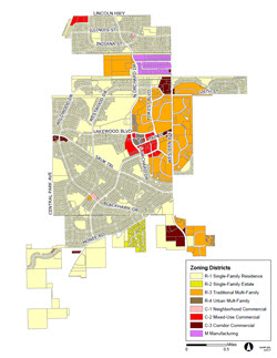 Park Forest Existing Zoning Map