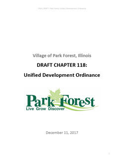 Park Forest Unified Development Ordinance Cover