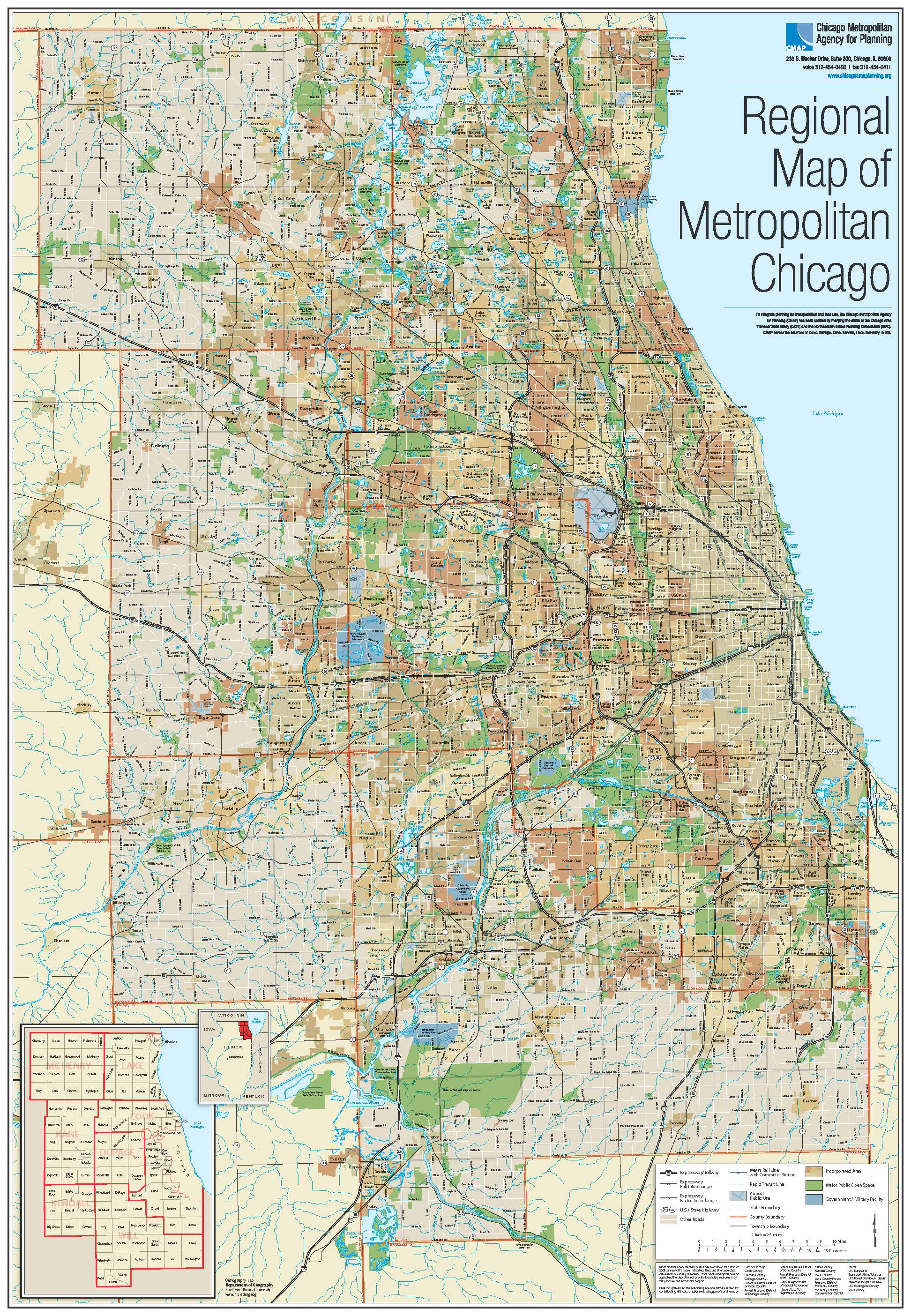 Maps Gallery CMAP - Chicago map download