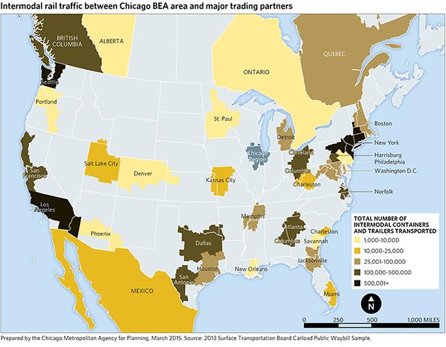 Intermodalism Metropolitan Chicagos BuiltIn Economic - Intermodal map us