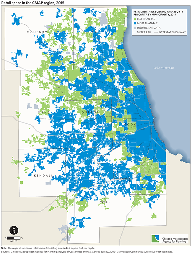 Retail Vacancy And Sales Tax Revenue In The CMAP Region CMAP - Us sales tax map