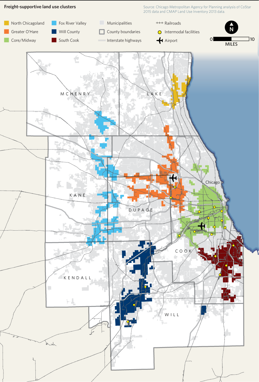 Freight Land Use Clusters In Northeastern Illinois