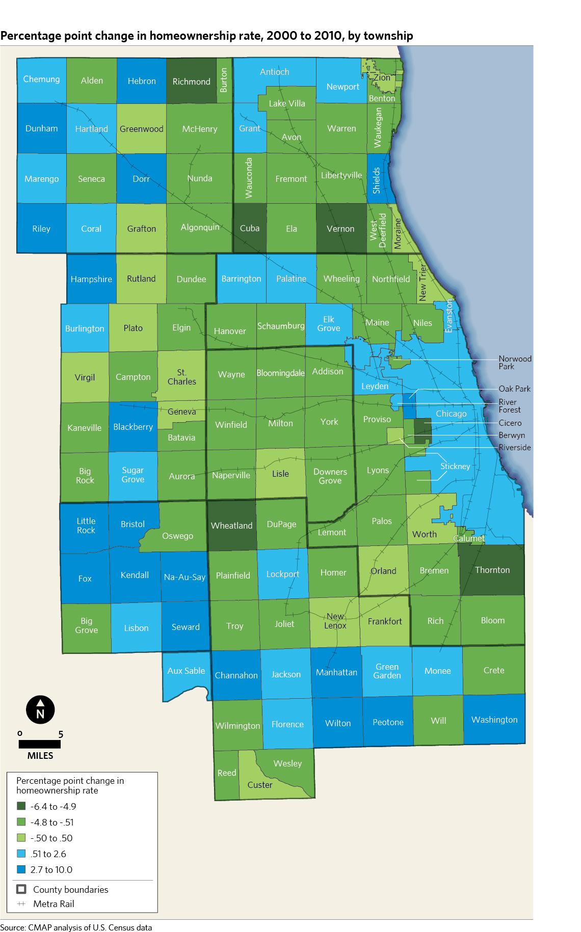 US Census Bureau Releases Analysis Of Housing Data Updates CMAP - Chicago map northwest suburbs