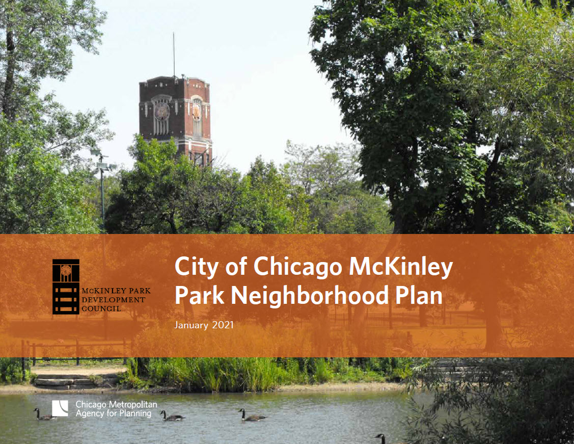Cover of the McKinley Park neighborhood plan