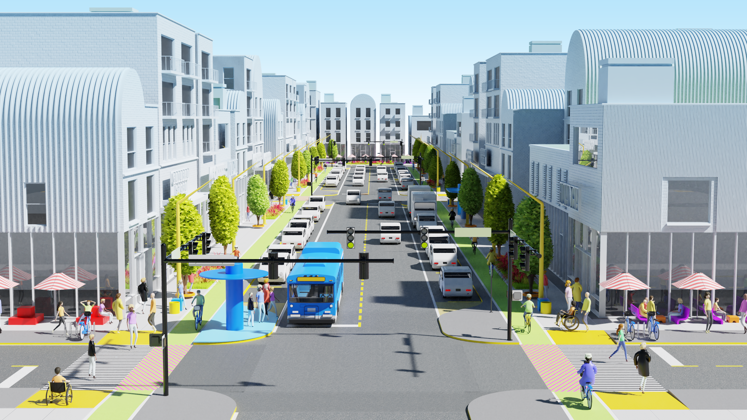 Adaptations to increase walkability with hot spots