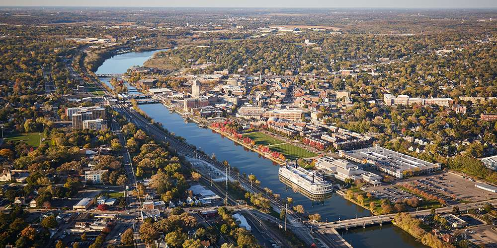 The Fox River from above.