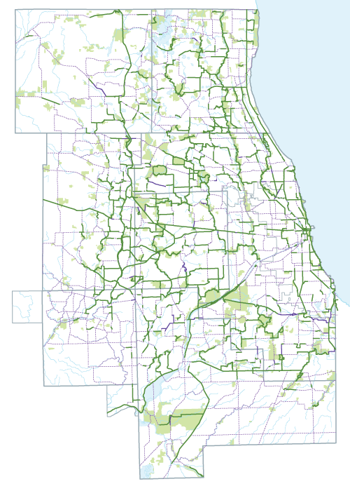 Regional Greenways and Trails map.