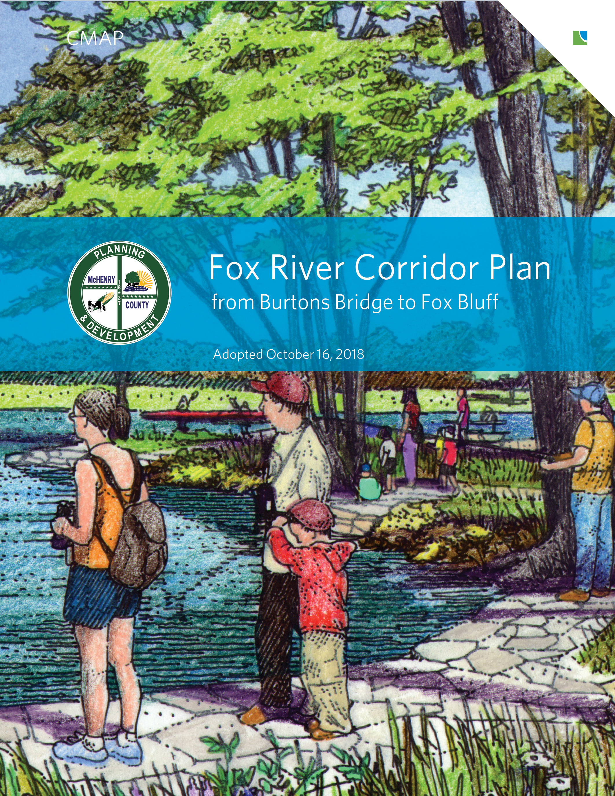 Cover of Fox River Corridor Plan